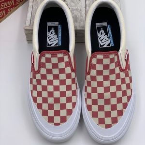 Vans Slip-On Pro Checkerboard Mineral Red Men's